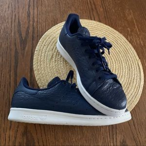Adidas Stan Smith Leather Croc NavyBlue Sneakers